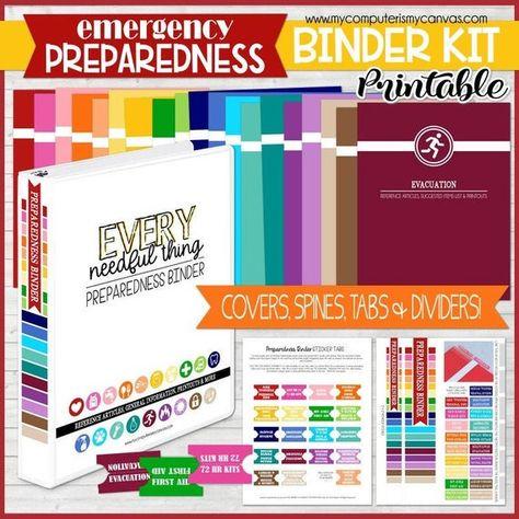 EMERGENCY PREPAREDNESS BINDER, Emergency Binder, Emergency Kit, Emergency Prep, Every Needful Thing Binder - Printable Instant Download