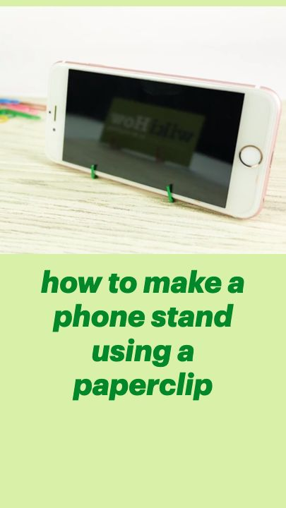 how to make a phone stand using a paperclip