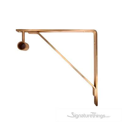 Shelf Bracket With Standard Bracket Hanger In 2020 Brass Shelf Brackets Shelf Brackets Closet Rod