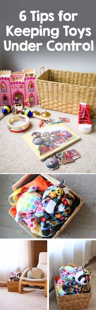 {Keeping Everyday Living Spaces Under Control} 6 tips for keeping toys from taking over your home