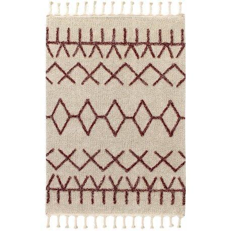 Tapis Bereber Burgundy Style Berbere A Franges De Lorena Canals Chez Itao Tapis Tapis Berbere Tapis Design