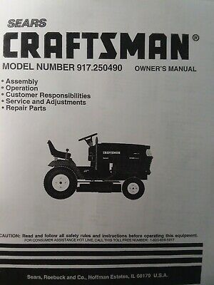 Details About Sears Craftsman Hydr 18hp 44 Lawn Garden Tractor Owner Parts Manual 917 250490 Sears Craftsman Garden Tractor Sears