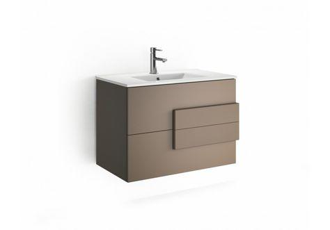 110 00073 Waschtischunterschrank 80 Cm Mokka Matt Mobel Online