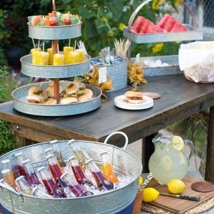 Galvanized Steel Oval Beverage Tub With Stand Bed Bath Beyond Outdoor Drink Station Barbecue Party Beverage Tub