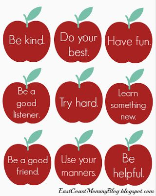 Free, printable lunch box notes.  LOVE the simple but important messages.