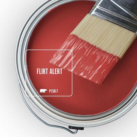 Behr Ultra 1 Qt P150 7 Flirt Alert Semi Gloss Enamel Exterior Paint And Primer In One 585304 The Home Depot Behr Marquee Paint Interior Paint Exterior Paint