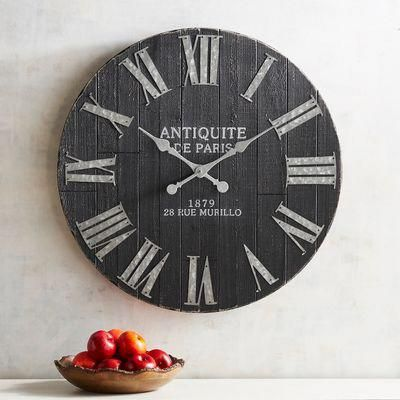 Farmhouse Style Antique Kitchen Mirror Wall Decor Wall Clock Washing Walls