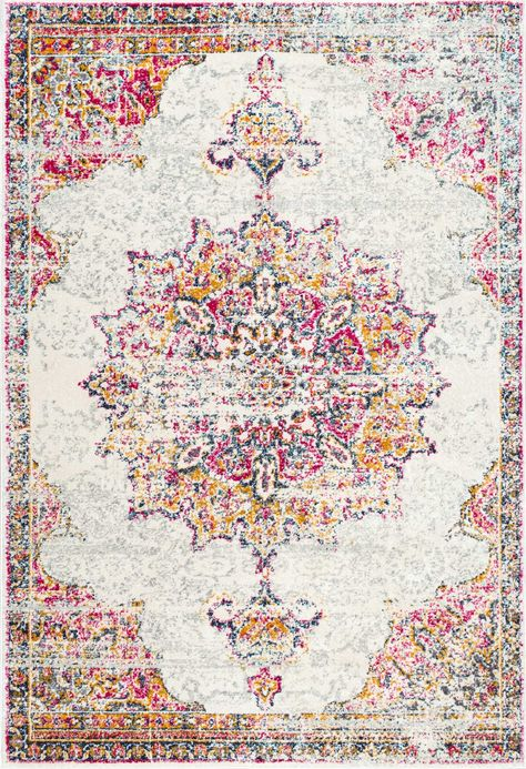 The perfect vintage piece! This is Rugs USA's Bosphorus BD36 Sunny Wildflower Medallion Rug!