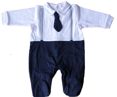 TUTINA CINIGLIA NEONATO BABY FINTA CAMICIA E CRAVATTINO TAGLIE 0//12 MESI 703