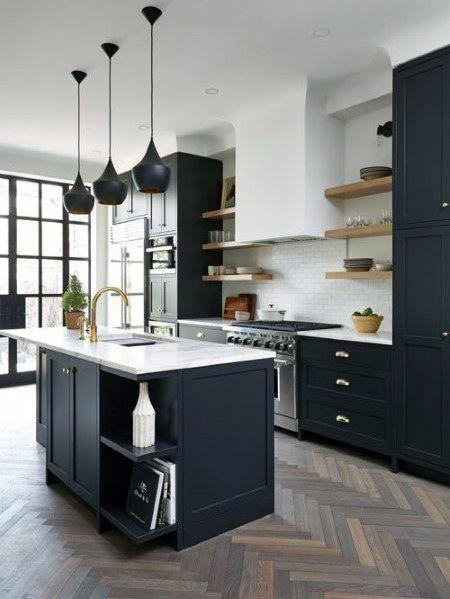 Top 50 Best Black Kitchen Cabinet Ideas Dark Cabinetry Designs Kitchen Cabinet Design Black Kitchen Cabinets Kitchen Style