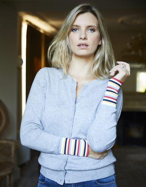 Jazzy Details: The Striped-Cuff Cardi