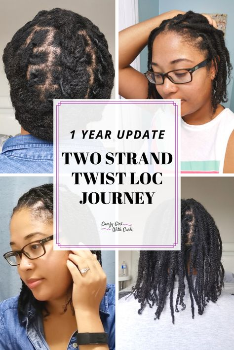 One Year Update Two Strand Twist Loc Journey Guest Post Two Strand Twist How To Grow Natural Hair Natural Hair Care Tips