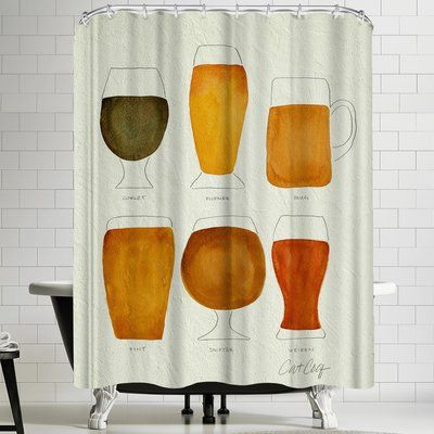 East Urban Home Beer Single Shower Curtain Cotton Shower Curtain
