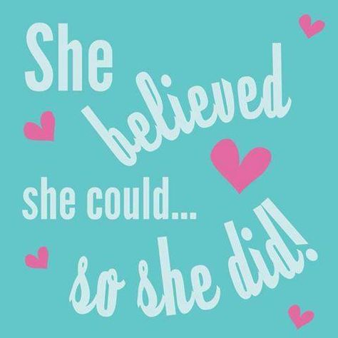 Believe you can do anything! http://lindsayslockets.com/