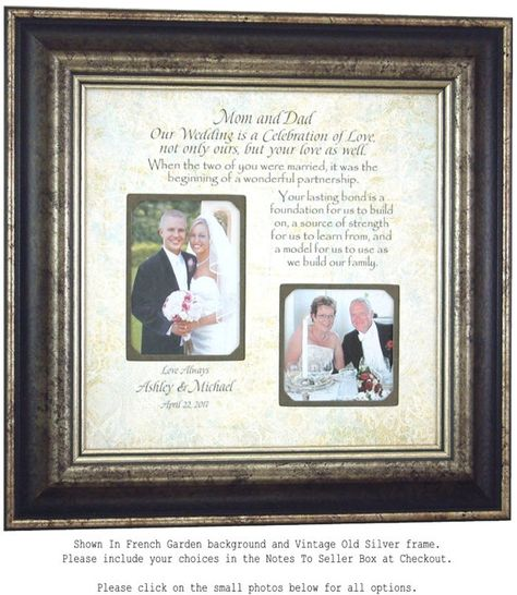 List of Pinterest wedding gifts for parents of the groom bridal ...