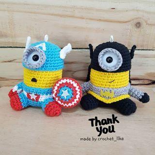 Amigurumi Minion Crochet Handmade Yarn Cute Dolls