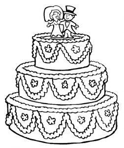 Best Wedding Coloring Pages Ideas Desenho De Bolo Paginas Para
