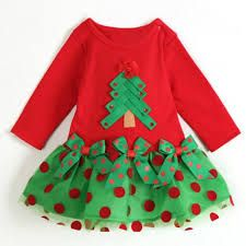 Resultado de imagen para vestidos navideños para niña con lazos