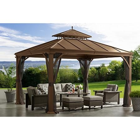 Savannah Pavilion Sam S Club In 2020 Hardtop Gazebo Outdoor Gazebos Backyard Gazebo