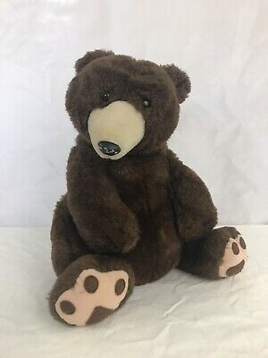 Plush Bear By Darling You Brand 14 Sitting Brown Tan Stuffed Animal Vintage Ebay In 2020 Bear Plush Plush Stuffed Animals Plush