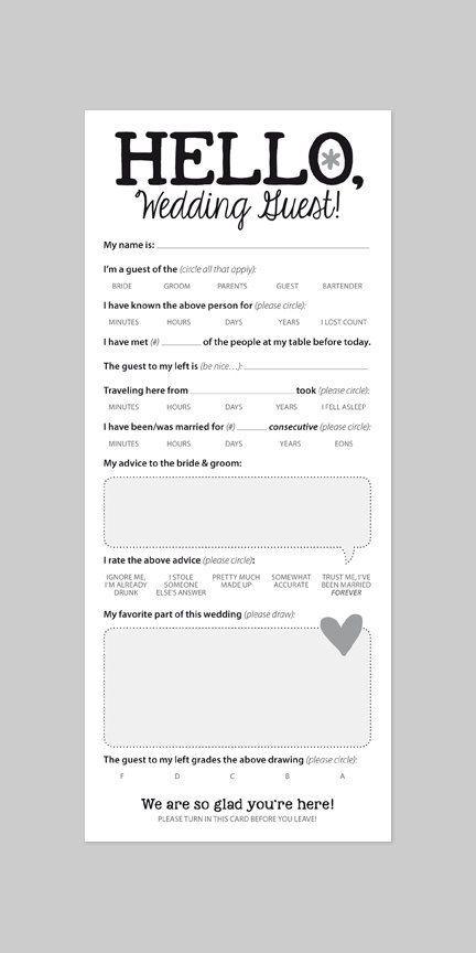 WEDDING GUEST CARD Funny Marriage Advice Card by helloinklings: www.pinterest.com/laurenweds/wedding-reception?utm_content=buffer19de4&utm_medium=social&utm_source=pinterest.com&utm_campaign=buffer