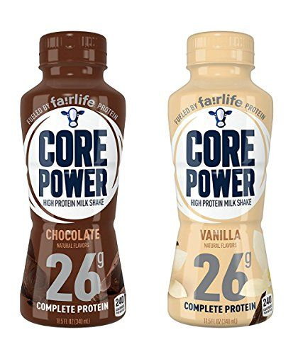 Core Power 26g High Protein Milk Shake 12 11 5oz Bottles Chocolate Vanilla Combo High Protein Milkshake Shakes