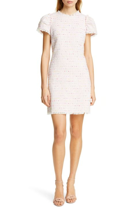 Women's Kate Spade New York Puff Sleeve Tweed Dress, Size 12