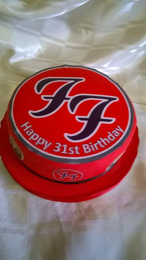 Foo Fighters cake