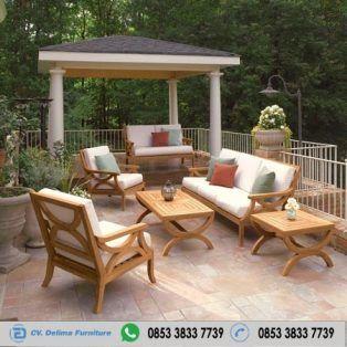 Kursi Tamu Outdoor Samping Kolam Kayu Jati Cv Delima Furniture Toko Mebel Terpercaya 100 Dan Berkualitas Terbaik Cv Delima Furniture Kayu Jati Kayu Kursi