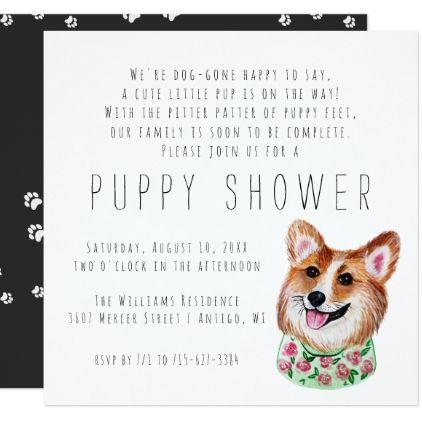 New Puppy Puppy Shower Invitation Zazzle Com In 2020 New