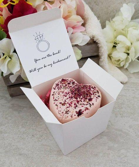 Bridesmaid Proposal Gift - Bridesmaid Bath Bomb - Bridesmaid Thank You - Maid of Honor - Wedding Par