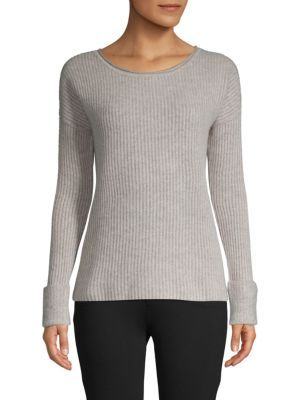 Ribbed Cashmere Sweater In Sand | Textured knit sweater