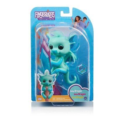 Fingerlings Interactive Baby Dragon Noa Green With Blue By Wowwee Interactive Baby Baby Dragon Baby Dino