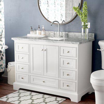 Charlton Home Castellanos 48 Single Bathroom Vanity Set With Mirror Bathroom Interior Design Bathroom Interior Single Bathroom Vanity