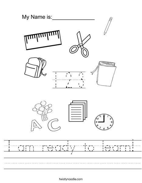 18+ I am worksheets kindergarten Top