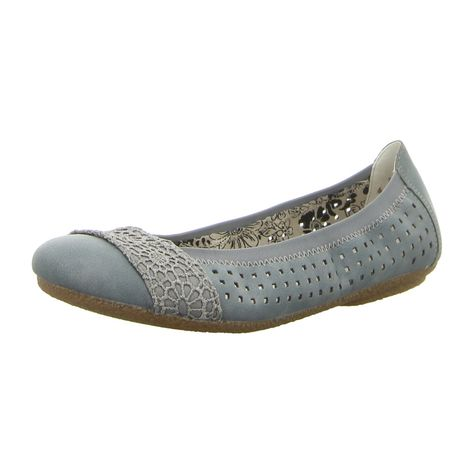 NEU: Rieker Ballerinas 41487 12 blau | Schuhe