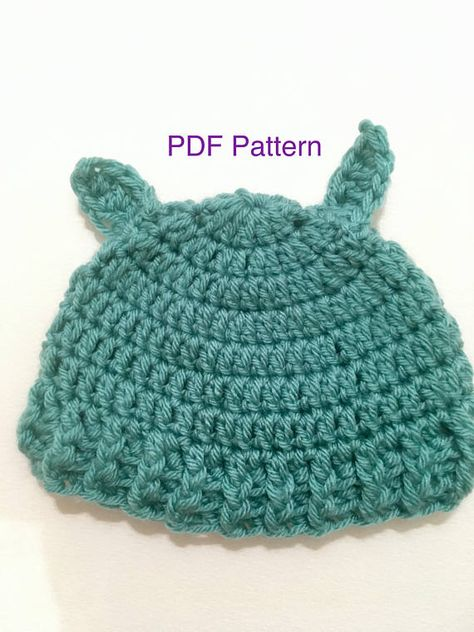 Crochet Pattern Yoda Hat For Newborn Baby 3 Months Baby Clothing