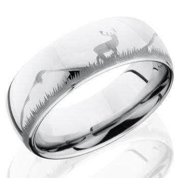 Fable Designs Cobalt Half Round Laser Deer Wedding Band Ideas Pinterest And Bands