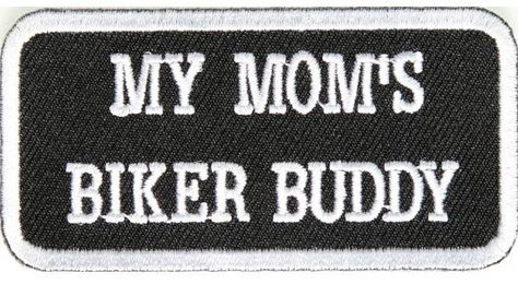 `MY MOMS A BIKER` SEW OR IRON ON PATCH