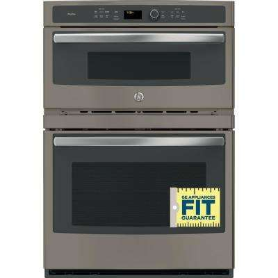 Profile 30 In Double Electric Wall Oven With Convection Self Cleaning And Built In Microwave In Slate Wall Oven Microwave Convection Oven Wall Oven Microwave