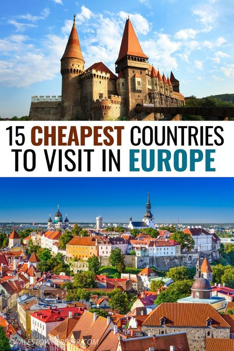 Europe doesn't have to break the bank. This list gives you 15 of the cheapest countries to visit in Europe, proving that budget travel in Europe really does exist. Click to read more. #Europe #EuropeTravel #TravelTips #BudgetTravel #Wanderlust