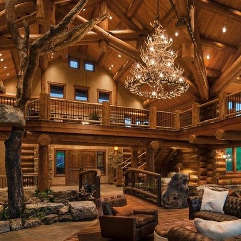 Why You Should Consider Buying a Log Cabin - Rustic Design Rustic Home Design, Dream Home Design, Rustic Modern Cabin, Wood House Design, Modern Log Cabins, Log Home Interiors, Log Cabin Homes, Log Cabin Bedrooms, Log Cabin Plans