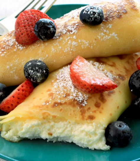 Making homemade blintzes takes some time but  are totally worth it!  If time's a factor, you can cheat by using pre-made crepes from the store. - Everyday Dishes & DIY