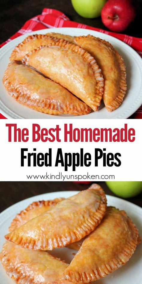 Easy Pie Recipes, Apple Pie Recipes, Cooking Recipes, Fried Apple Pie Filling Recipe, Homemade Fried Pie Dough Recipe, Hand Pie Crust Recipe, Pie Dough Recipe Easy, Fried Apples Recipe Easy, Homemade Pie Crusts