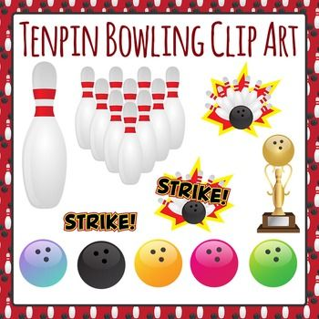Tenpin Bowling Clip Art Set For Commercial Use Clip Art Pattern Paper Bowling