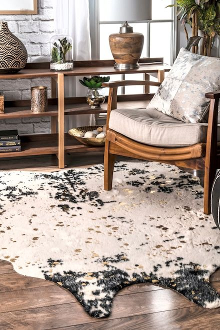 Ovid Tangerine Oriental Rust Area Rug Home Faux Cowhide Rug Home Decor