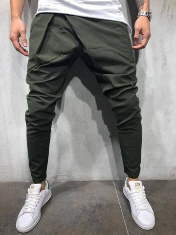 Mens Casual Sweatpants Trackpants Male Long Running Jogging Trousers Pure Color