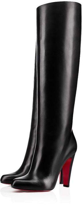 e4c038f9305 Marmara Botta 100 Black Leather - Women Shoes - Christian Louboutin ...