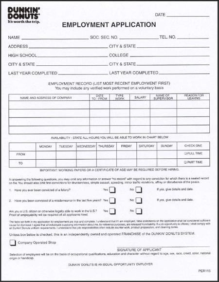 photograph relating to Dunkin Donuts Printable Application named Work Dunkin Donuts Resume Undertaking