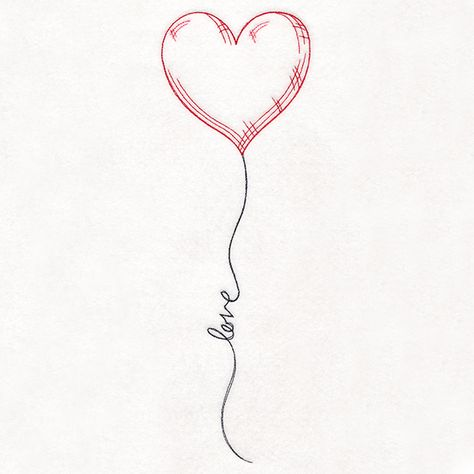 Uplifting Love Balloon design (M19047) from www.Emblibrary.com
